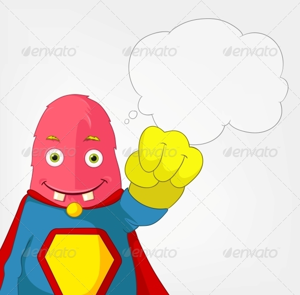 Funny Monster - Super Hero - Monsters Characters