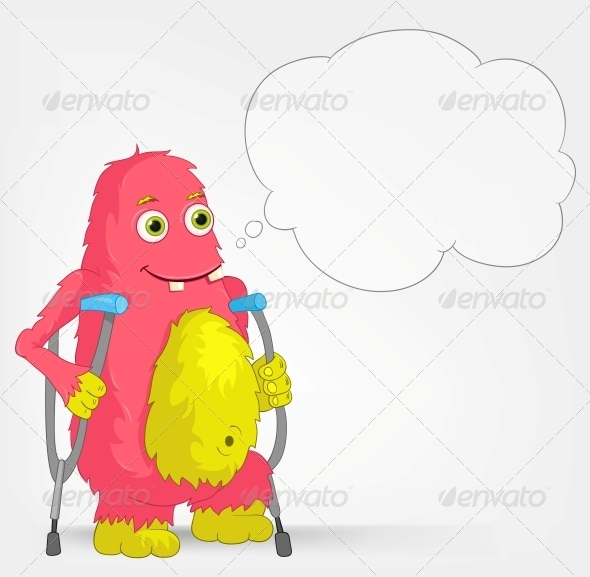 Funny Monster - Disabled - Monsters Characters