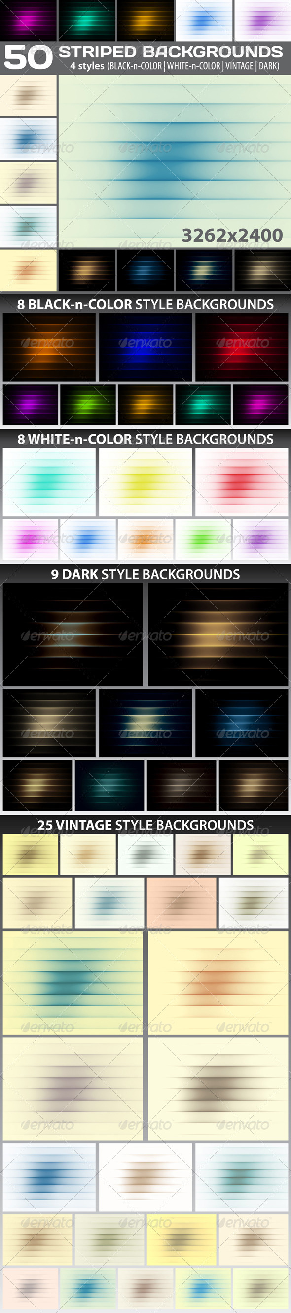 50 Striped Backgrounds - Abstract Backgrounds