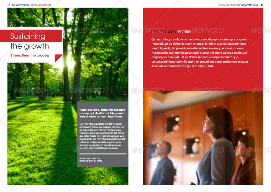 Annual Report Design Template by thinqueber   GraphicRiver