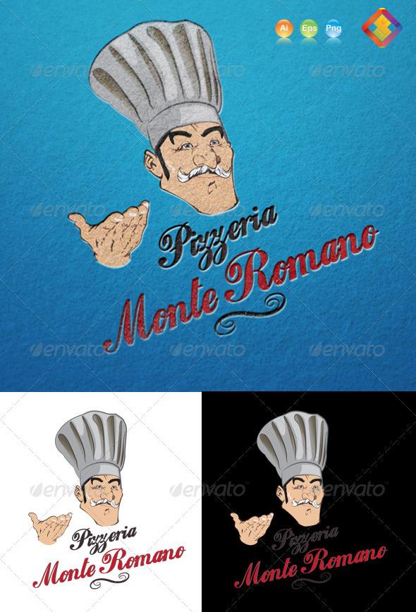 Pizzeria Monte Romano Logo - Food Logo Templates
