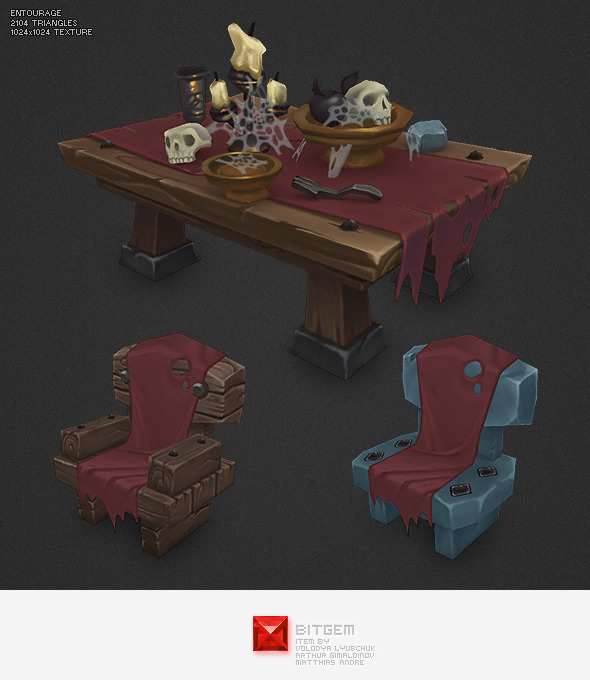 Low Poly Dungeon Entourage - 3DOcean Item for Sale