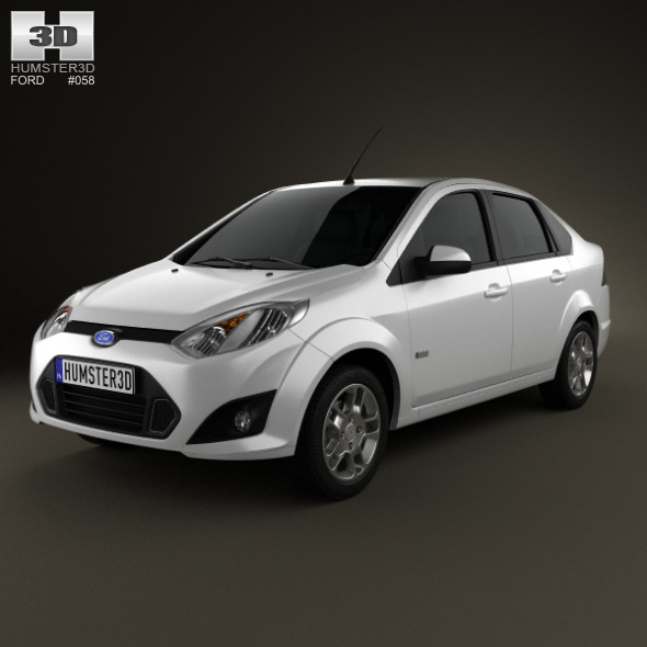 Ford Fiesta Rocam sedan (Brazil) 2012 - 3DOcean Item for Sale
