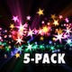 Holiday Star Trails - Pack of 5 - VideoHive Item for Sale