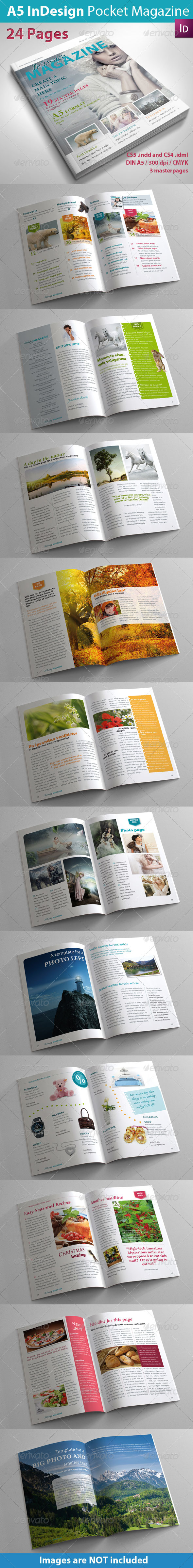 A5 InDesign Magazine - Magazines Print Templates