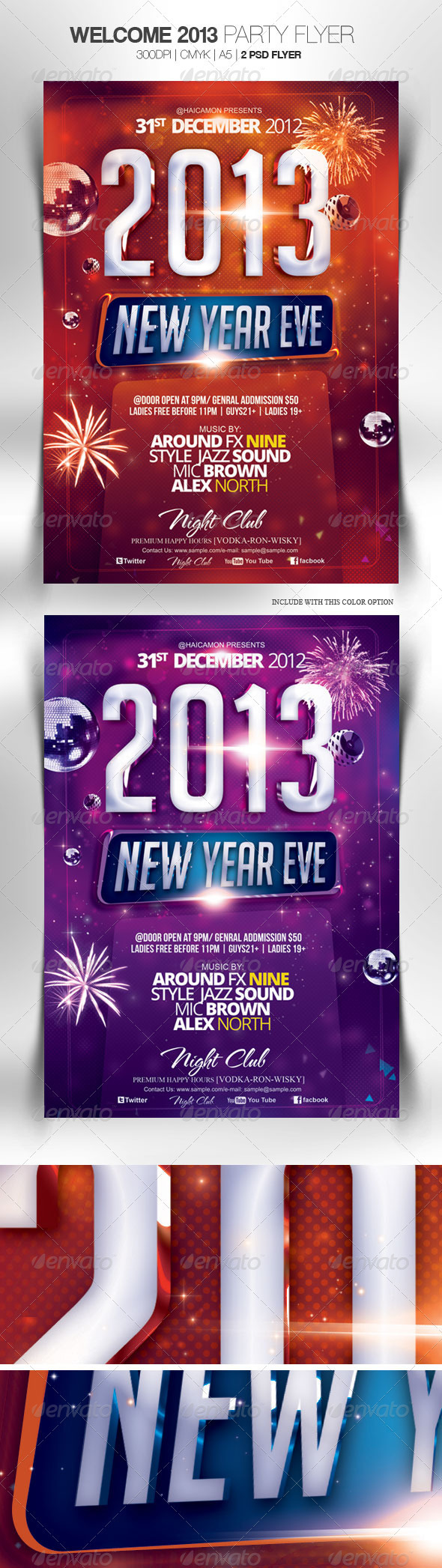 Welcome 2013 Party Flyer - Clubs & Parties Events