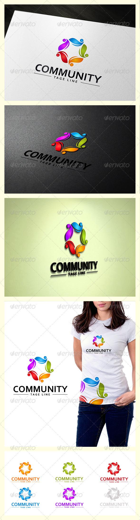 Community Star Logo - Symbols Logo Templates