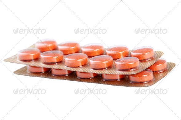 Pills on white background - Stock Photo - Images