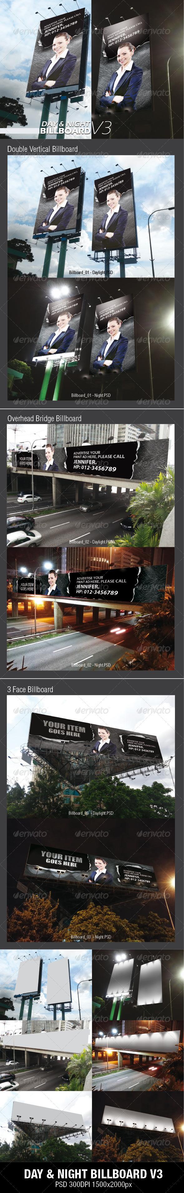 DAY & NIGHT BILLBOARD V3 - Signage Print