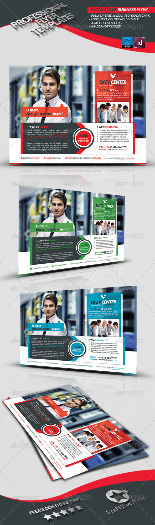 Data Center Business Flyer - Corporate Flyers