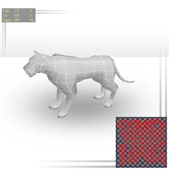 Tiger Low Poly - 3DOcean Item for Sale