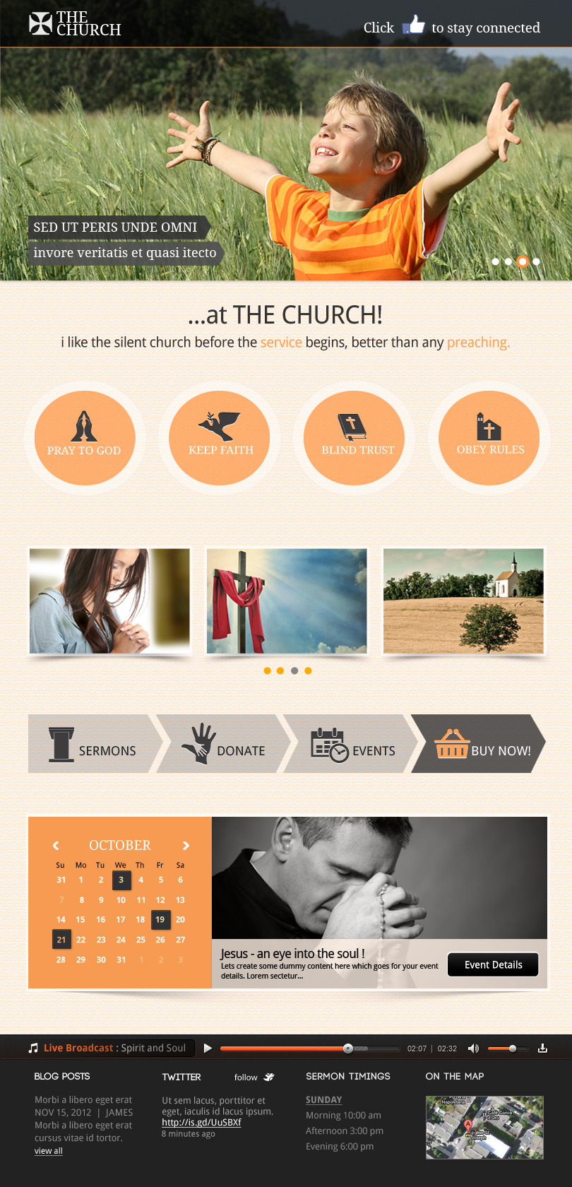 the church responsive site template - Church Website Design Ideas