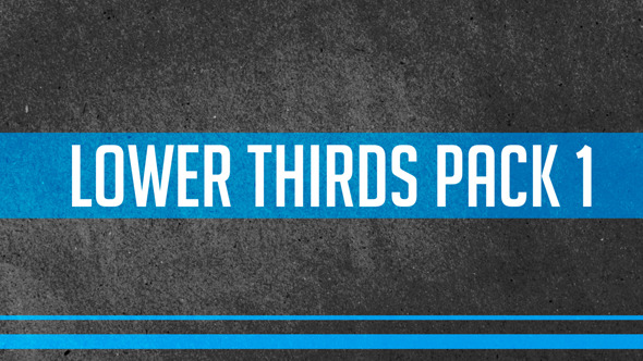 Lower Thirds Pack 1 By SebicheArgentino