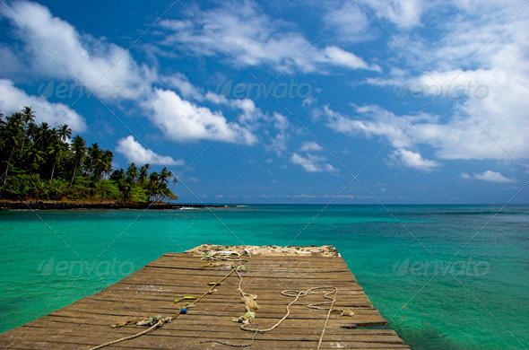 Equator Beach - Stock Photo - Images