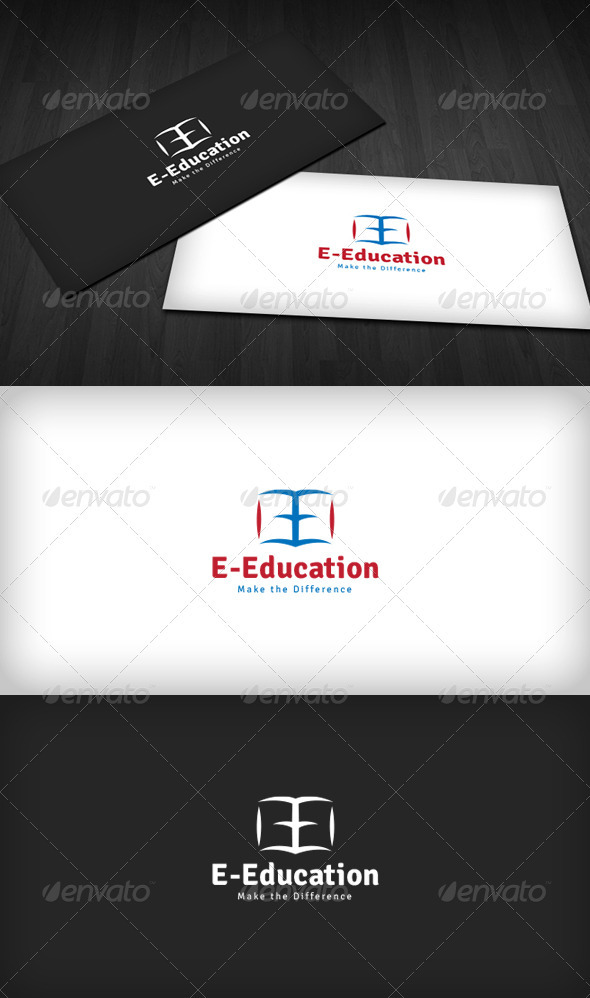 E-Education Logo - Letters Logo Templates