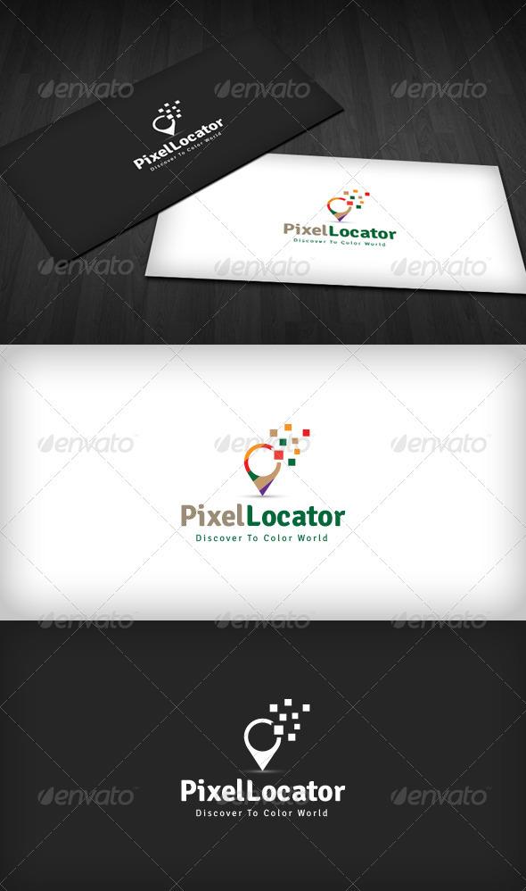 Pixel Locator Logo - Symbols Logo Templates