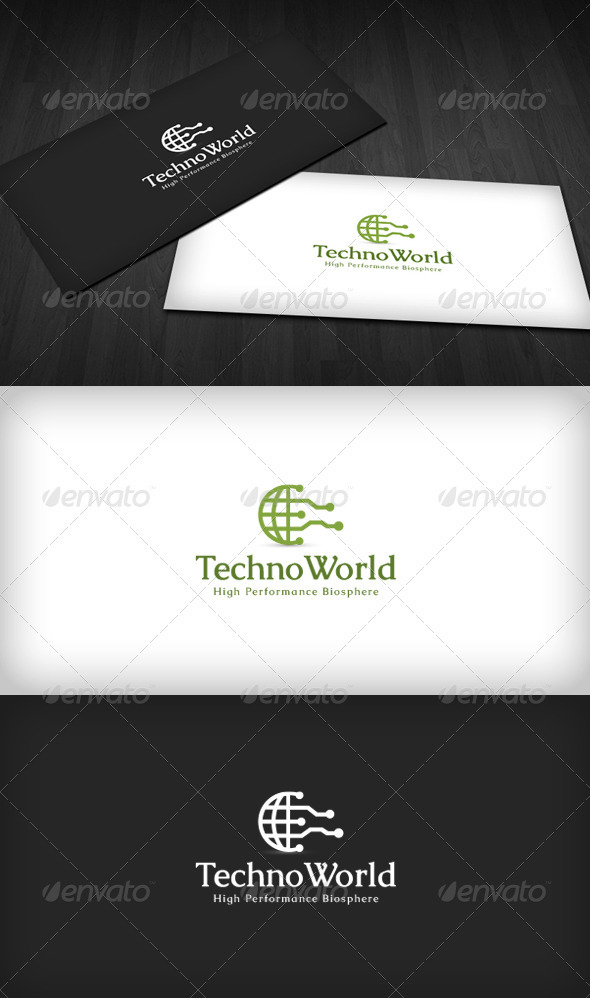 Techno World Logo - Symbols Logo Templates