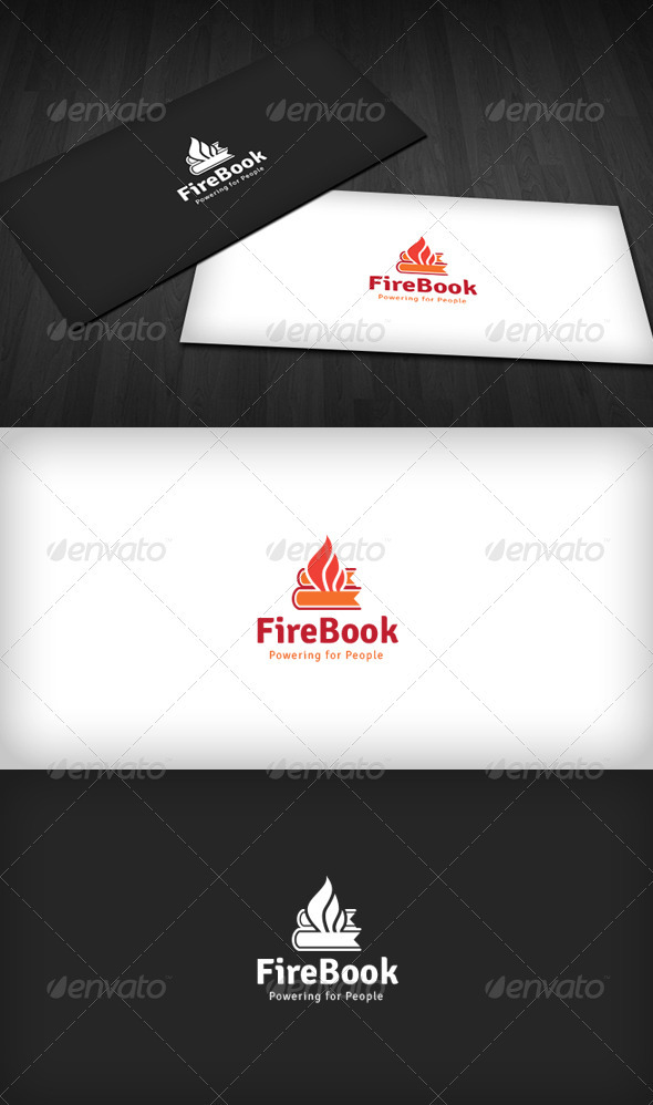 Fire Book Logo - Symbols Logo Templates