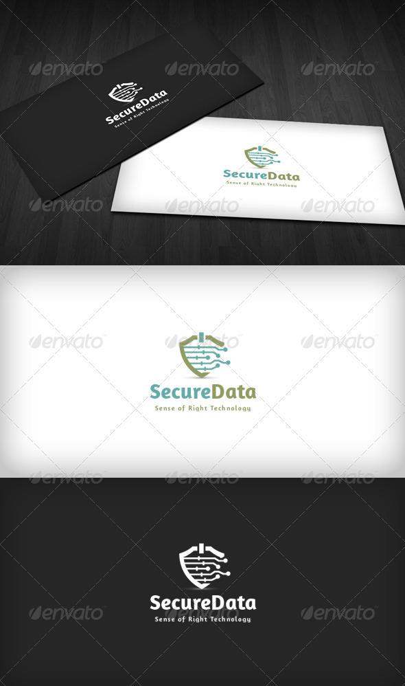 Secure Data Logo  - Symbols Logo Templates