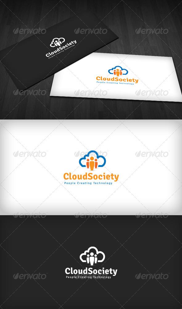 Cloud Society Logo - Humans Logo Templates