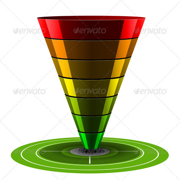 Conversion or Sales Vector Funnel - Business Conceptual