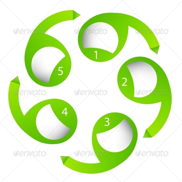 Concept of Colorful Circular Banners with Arrows - Web Elements Vectors