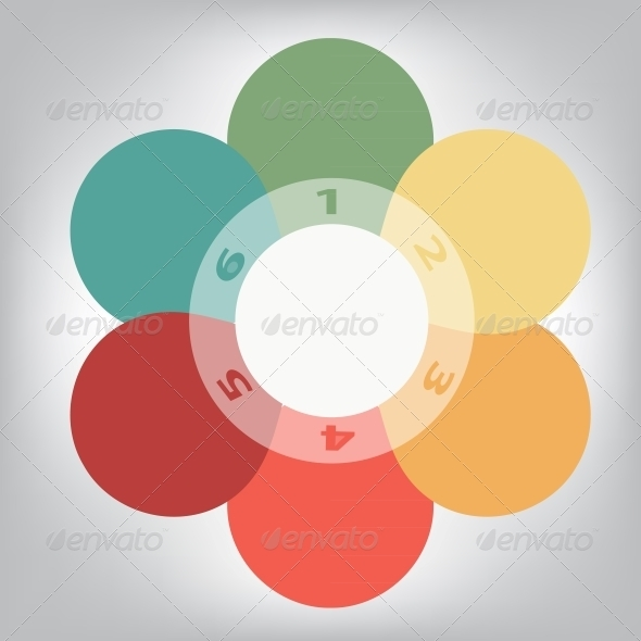 Concept of Colorful Circular Banners in Flower - Web Elements Vectors