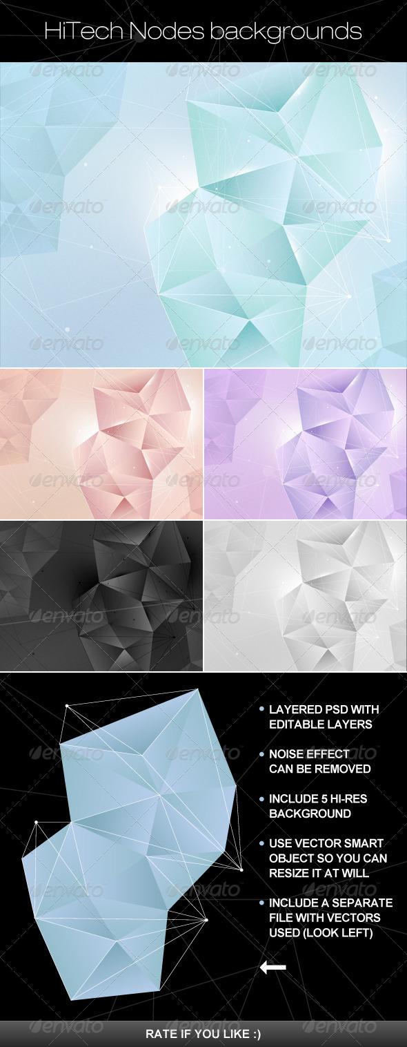 Hi Tech nodes background - Backgrounds Graphics
