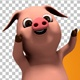 Little Pig Character   Disco Dance - VideoHive Item for Sale