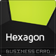 Hexagon Business Card - GraphicRiver Item for Sale