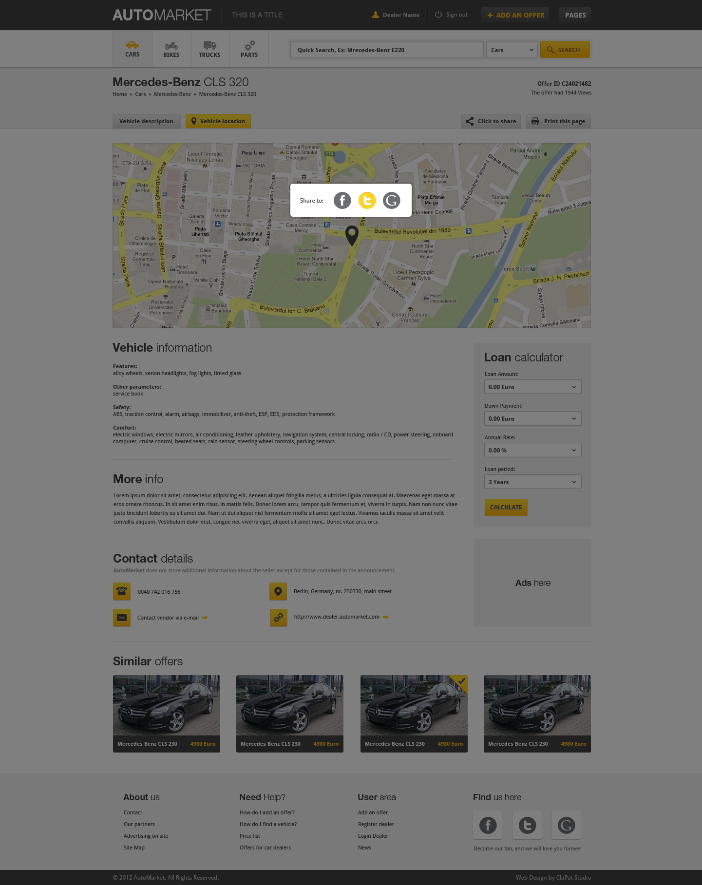 AutoMarket - HTML Vehicle Marketplace Template by ClaPat | ThemeForest