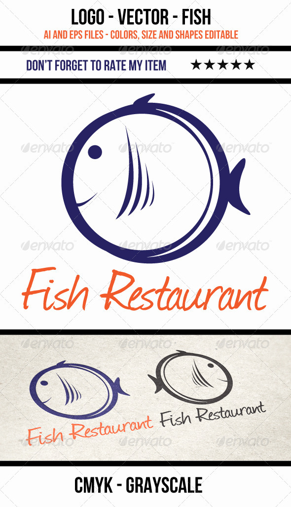 Fish Logo - Vector - Animals Logo Templates