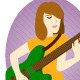 Lady Guitarist - GraphicRiver Item for Sale