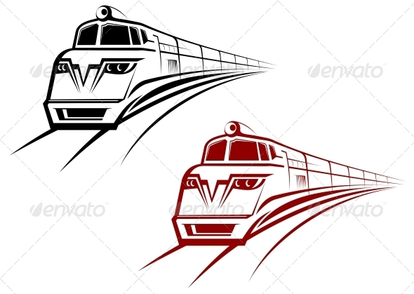 Railroad and Subway Symbol - Travel Conceptual