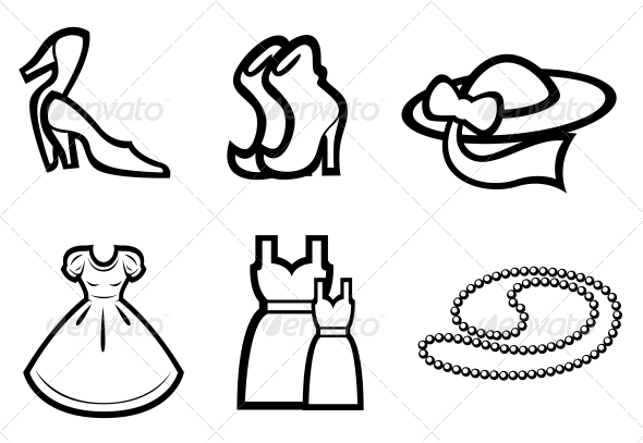 Woman Fashion Elements - Man-made Objects Objects
