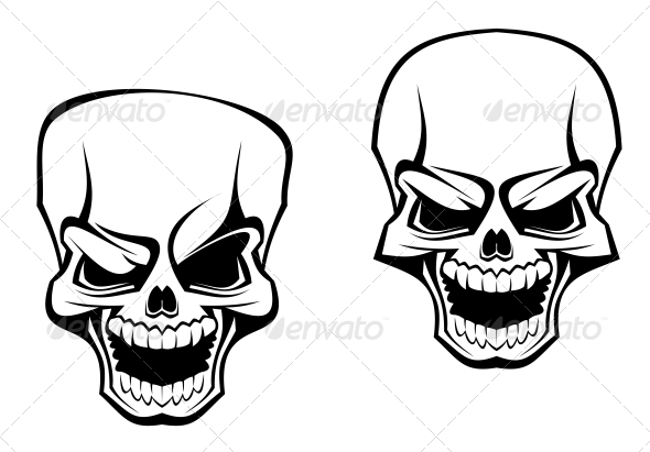 Danger Skulls - Tattoos Vectors