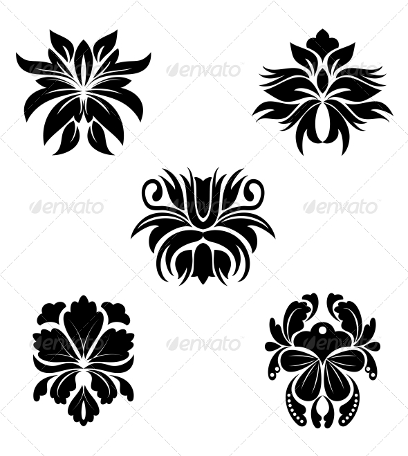 Flower Patterns - Decorative Symbols Decorative