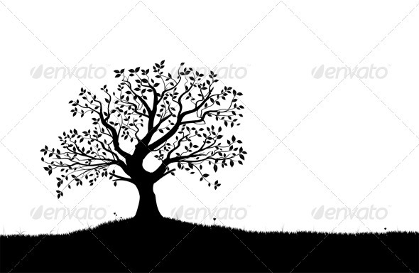 Vector Tree Silhouette - Nature Conceptual