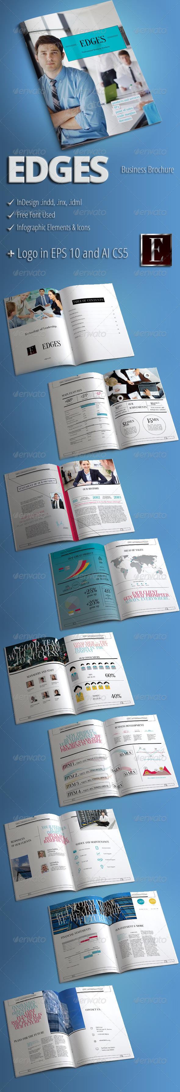 EDGES - Modern Business Brochure - Corporate Brochures