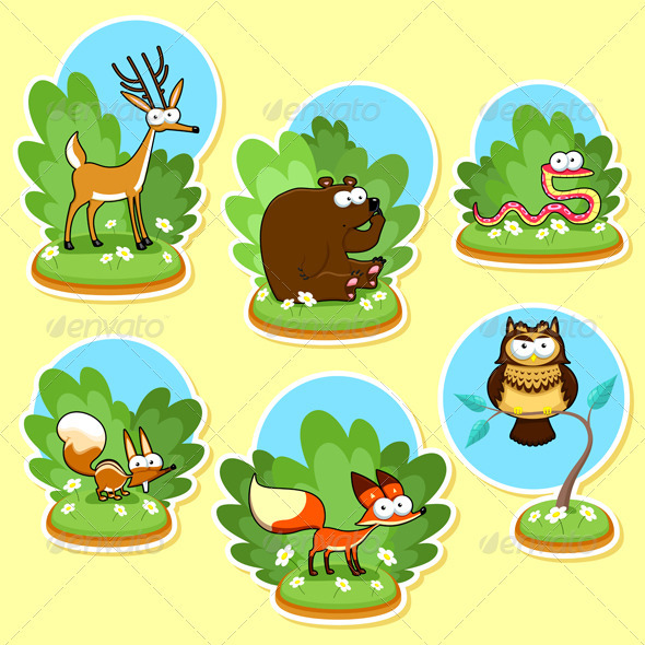 Funny Woods Animals - Animals Characters