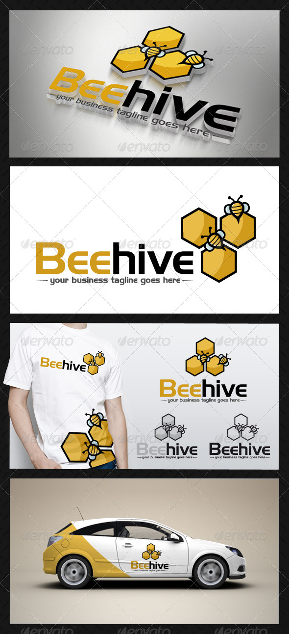 Bee Hive Logo Template - Animals Logo Templates