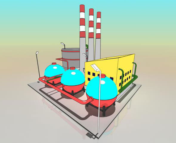 Simple Cartoon Factory - 3DOcean Item for Sale