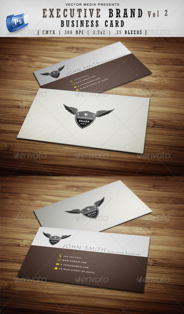 Executive Brand - Business Card [Vol.2] - Corporate Business Cards