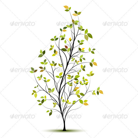 Young Tree - Vector - Flowers & Plants Nature