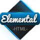 Elemental - Uniquely Designed HTML Template  Nulled