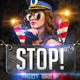 STOP Police Flyer Template - GraphicRiver Item for Sale