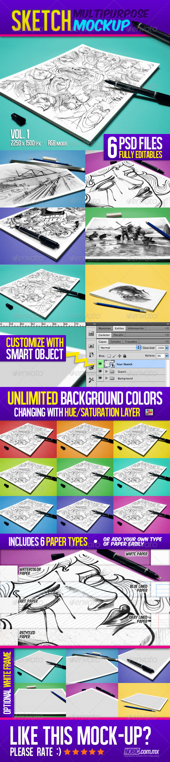 Sketch Multipurpose Mockup - Miscellaneous Print