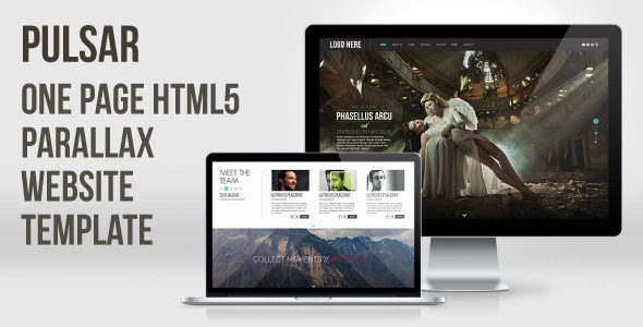 Pulsar – One Page HTML5 Parallax Website Template