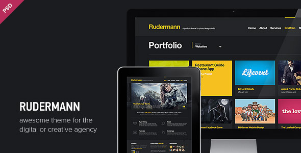 Rudermann - Agency / Business PSD Template - Creative PSD Templates