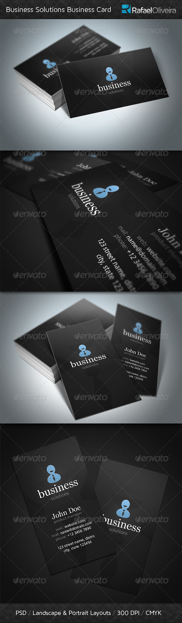 Business Solutions Business Cards - Corporate Business Cards